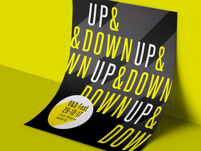 Up & Down Festival Concept typography poster design concept art