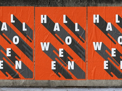 Today is Halloween composition print typography poster design halloween concept art