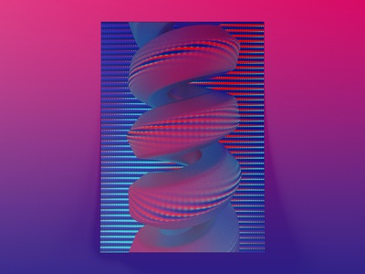 Visual explorations I - Poster snake render motiongraphics motiondesign minimalism minimal generativeart digitalart c4d animated aftereffects 3d