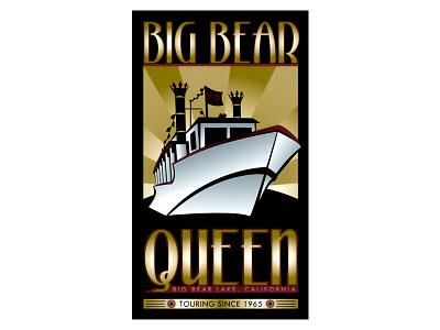 Big Bear Queen - Logo Design logo design art deco avant garde