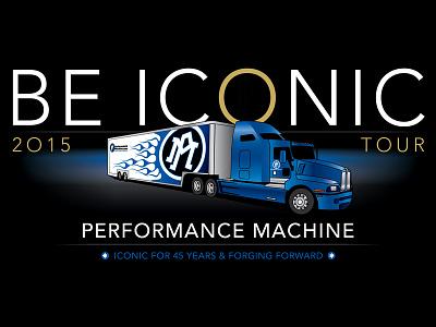 PERFORMANCE MACHINE - BE ICONIC - Tour Logo