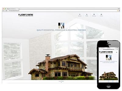 Kennys Painting Website bootstrap ca big bear lake painter painting design website responsive