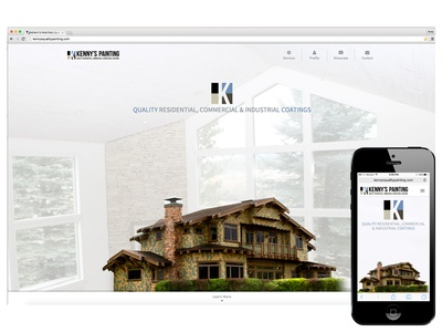 Kennys Painting Website bootstrap ca big bear lake painter painting design website responsive