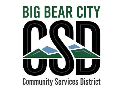 Big Bear City CSD Logo identity branding community services district mountains logo design design logo