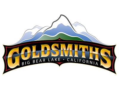 GOLDSMITHS Board Shop - logo design big bear lake identity branding mountains design logo