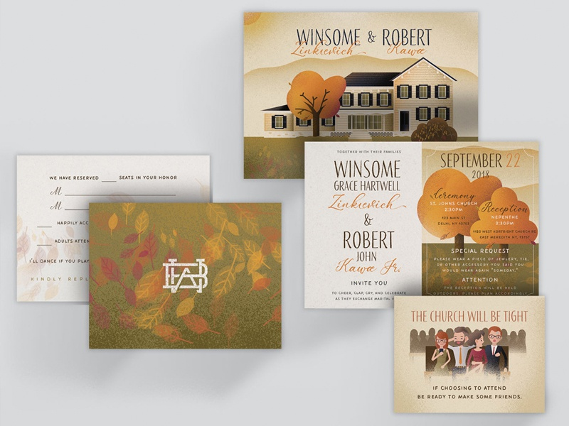 Wedding Invitations By Bob Kawa On Dribbble