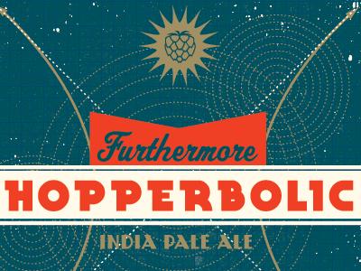 hopperbolic beer packaging label circles texture hops ipa hyperbola arrows