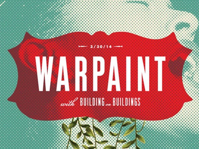 Warpaint & Building on Buildings gig poster gig poster warpaint building on buildings billie holiday halftone madison wisconsin music