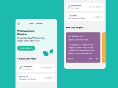 Medical Companion App - Home screen
