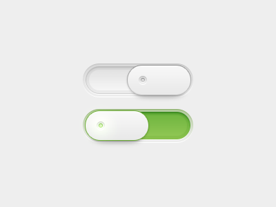 Switch switch slider depth photoshop design ui interface experience green clean white