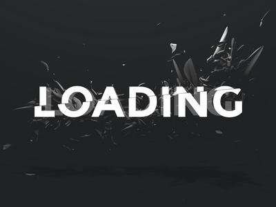 Loading screen loading dark 3d parallax