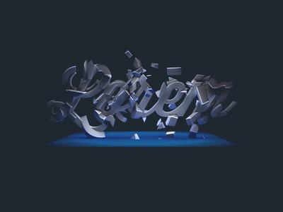 """Lorem"" 3d photoshop blue lighting"