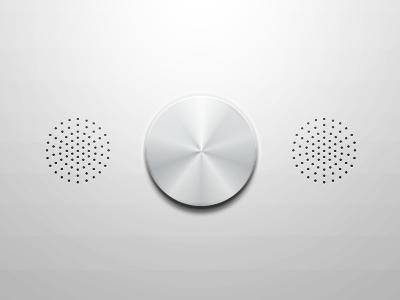 Radio thingy ui knob speakers radio
