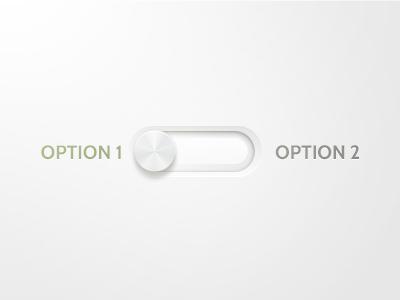 Switch switch slider photoshop ps knob depth light white subtle ipad