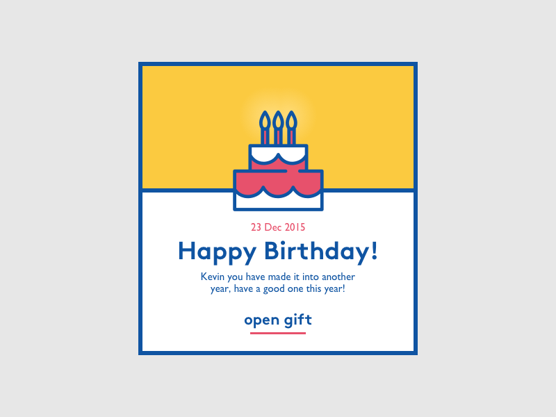 Birthday Notification icon sketch challenge notification birthday cake colourful strong dailyui