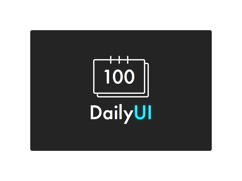 DailyUI logo sketch calendar icon logo dailyui