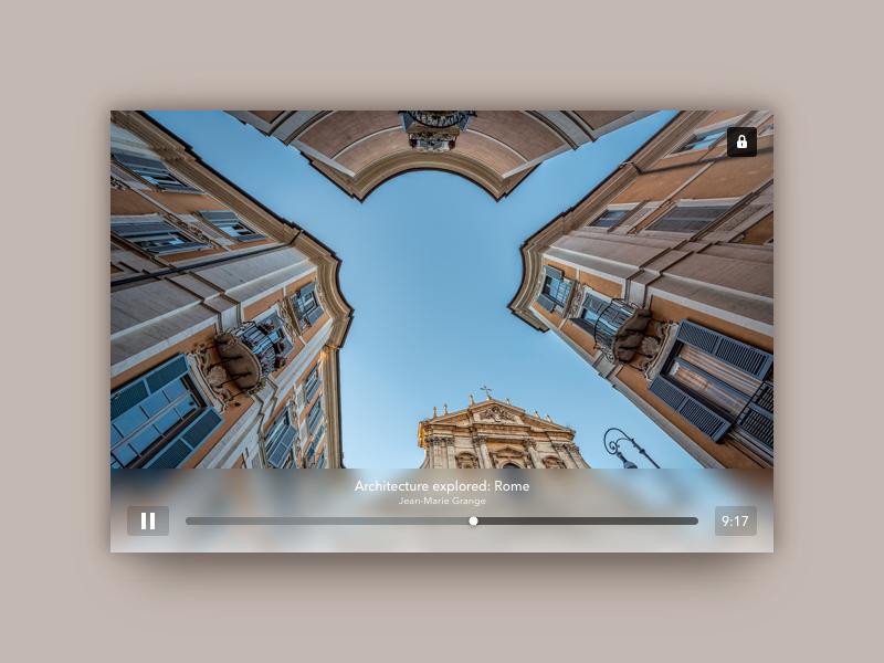 Video Player timeline scrollbar icon lock dailyui sketch video player