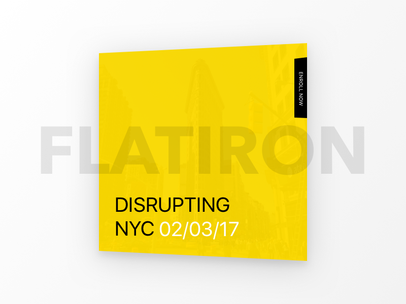 Dribbble NYC black yellow contrast webdesign uiux presentation mobile events design cards clean creative