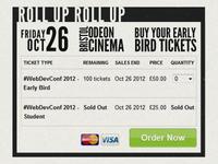 #WebDevConf 2012 Site Design - Tickets