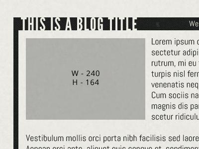 Blog close up
