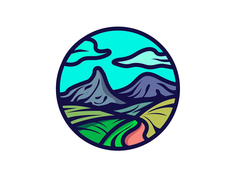 Through the Valley! line designs unit logo illustrator sketch minimal iconography graphic dribbble vector icon art design illustration