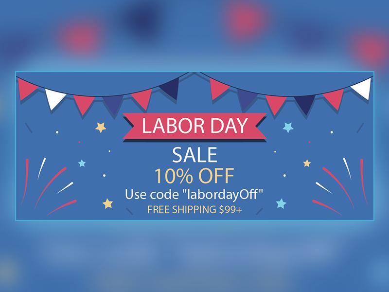 Labor Day Banner graphic advertising banner design sale banner