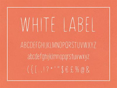 White Label, hand-painted font font thin modern organic human painted hand drawn skinny light brush ink