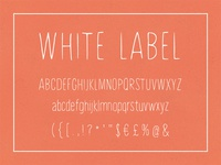 White Label, hand-painted font
