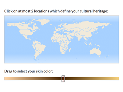 Race and Ethnicity Picker race ethnicity background culture form picker