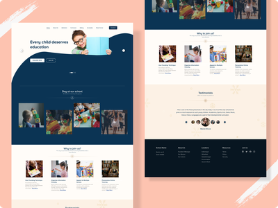 School website minimal web design ui ux