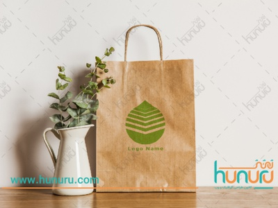 package design with logo illustration persian farsi hunuru visit card packaging logo package