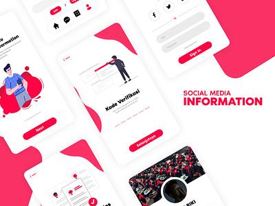Social Media Information ux flat app minimal ui illustration design