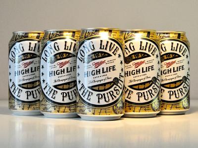 Miller High Life Artist Series miller high life artist series beer can packaging harley davidson limited edition