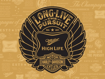 Long Live Other Concepts miller high life artist series beer can packaging harley davidson limited edition