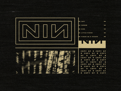 NIN Division nin division nine inch nails copy of a copy graphic apparel design tee t-shirt industrial