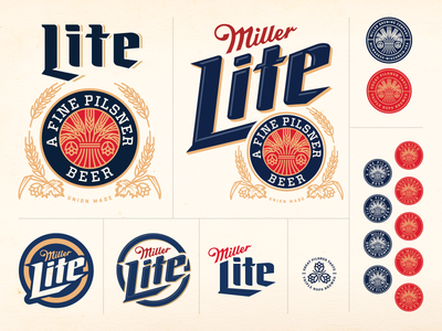 Miller Lite Concept miller lite beer retro graphics logo branding