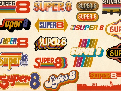 Super 8 logos vintage 70s movie