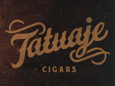 Tatuaje Script script typography cigars vintage classic