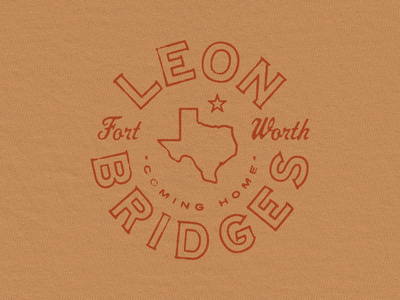 Leon Bridges Texas Seal merchandise graphic retro blues merch badge vintage seal logo texas bridges leon