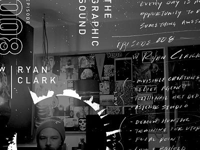 Episode Graphics vibe dark sketch podcast design creature invisible sound graphic