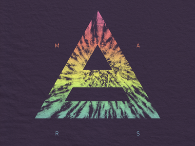 Mars Tie-Dye Triad leto jared apparel merch dye tie tie-dye triad mars seconds thirty