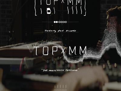 TØPxMM waveform handwriting topxmm mutemath twenty one pilots studio music tech minimal glitch video title