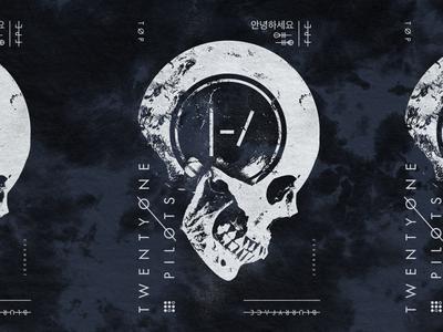 TØP Inner Skull evil acid dark skull pilots one twenty merch band