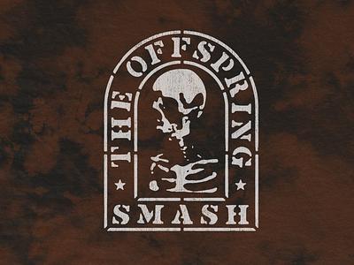 Smash Headstone merch rock punk grave headstone skull smash offspring