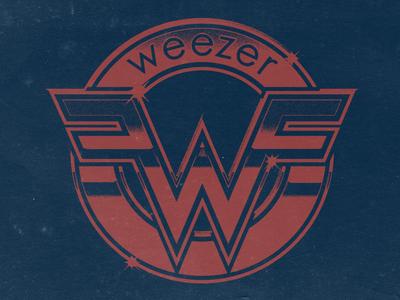Weezer Shiny Seal pinkerton throwback design merch retro vintage rock weezer
