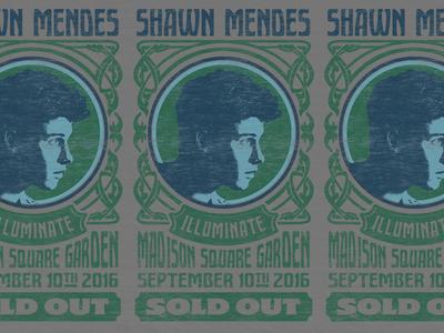 Nouveau Shawn Mendes madison gigoter show poster merch poster fillmore hippy nouveau mendes shawn