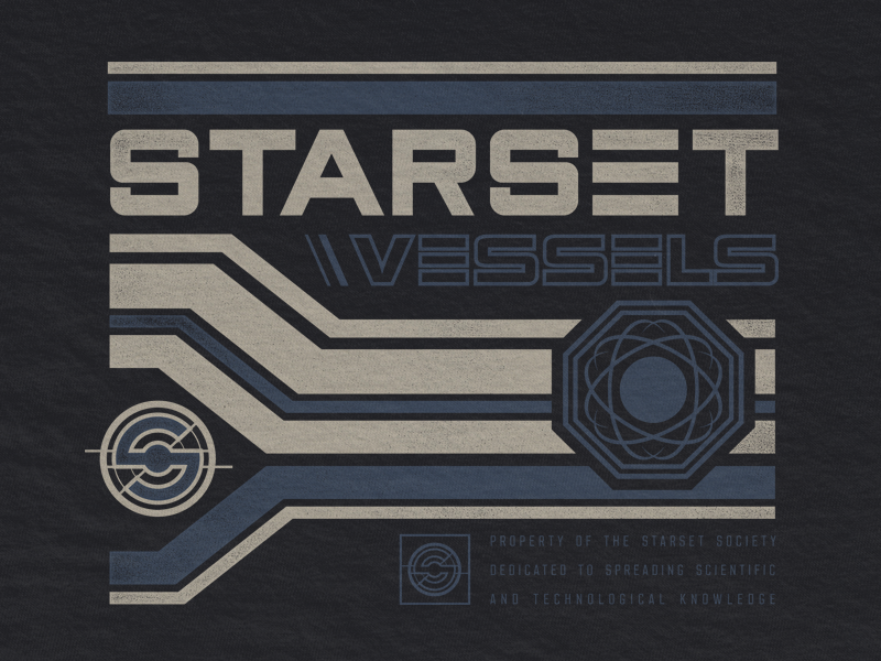 Starset Space Station rock merch tech retro nasa space starset