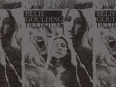 Ellie Goulding Cut and Paste pop rip collage merch mess paste cut scraps goulding ellie