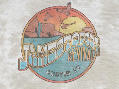 Desert Revival merch classic seal badge southwest vintage retro revival jamestown