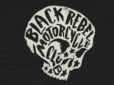 BRMC Fill Skull drawn merch vintage rock skull club motorcycle rebel black brmc
